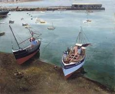 Richard Eurich, R.A. (1903-1992) Harbour scene, Penzance  signed 'R. Eurich' (lower right)  oil on board  14 7/8 x 18 in. (37.6 x 45.8 cm.)  Painted in the 1930s.