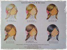 Spectrum noir hair and skin combos