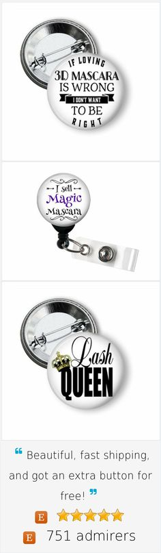 Younique Presenter pinback button.  Inexpensive advertising that works.  #younique #3dmascara #magicmascara #3dfiber #marketing #advertising #directsales #mlm #pinbackbuttons