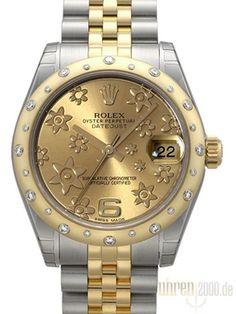 Rolex Datejust 31 Diamant Lünette 178343 Champagner Floral Jubile-Band