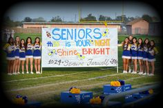 """Football Run Through signs: Senior Farewell  """"Th15"""" for class of 2015, but can change N16HT"""" or Br16ht"""" for class of  2016: High School"""
