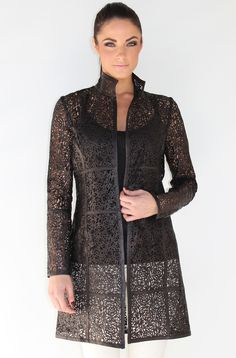 The Kelly rocker Italian laser cut mkgrayse.com leather jacket....only one left at Bloomingdales Boca Raton......