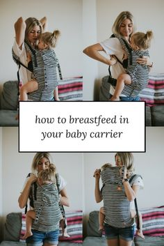 Mom blogger Larissa of Living in Color blog shares tips on how to breastfeed in a Tula soft structured baby carrier. Read more now.