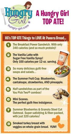 """Hungry Girl recently shared some of her favorite """"things to love"""" about Panera Bread! What are your favorites?"""