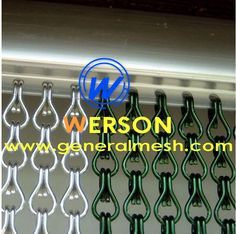 Aluminum chain curtain is a popular and functional decorative screen or divider for residential or commercial places. It is a premium alternative for doorway and window screen.  E-mail: sales@generalmesh.com