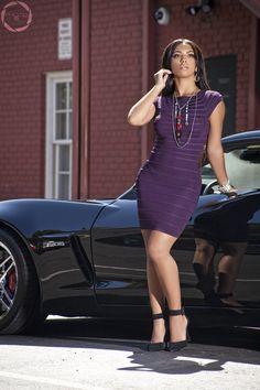 """Sassy Purple"" (Available at Denim Spot) 4 Hours, Sassy, Thursday, Bodycon Dress, Denim, Purple, How To Wear, Dresses, Fashion"