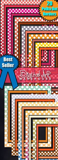 20 Awesome Polka Dot Borders Top Selling Product. Scrapbook.