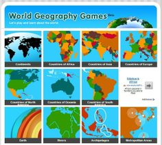 World Geography Games | Rincón didáctico de CCSS, Geografía e Historia