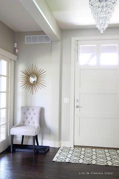 A Sunnier Entryway | Life On Virginia Street - Paint Color is Behr Castle Path