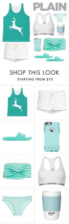 """""""☆ Trendy Cute Deer Sea Green Tank Top ☆"""" by shabzdesigns ❤ liked on Polyvore featuring NIKE, OtterBox, Mossimo Supply Co., Calvin Klein, Icebreaker and Pantone"""