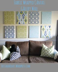 Fabric Wall Decor wall art: fabric covered canvases | canvases, fabrics and fabric