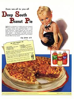 1940s recipe: Deep South Peanut Pie from Karo syrup - @Terry Song Thayer - I see where you got your graphic!!  :)