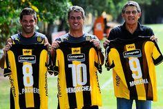 Pacheco, Bengoechea y Morana juntos en la campaña de socios de Peñarol.