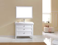 Torun 1000mm Vanity - Ancient White with White Ceramic Top