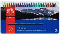 Caran d'Ache Fibralo Fibre Tipped Pens - Tin of 30 Assorted Colours