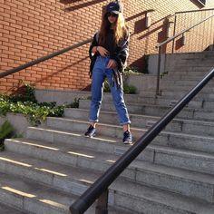 #cap #girl #momjeans #model #tumblr instagram paaulski