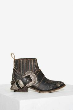 Distressed bohemian cowboy boots