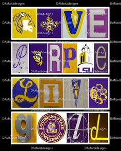 LSU Love Purple Live Gold  Framed Alphabet Photo by DAMartndesigns, $35.00
