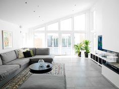 Kärngården - stort hus med mycket ljusinsläpp från Myresjöhus Bungalow, House Ideas, Contemporary, Design, Home Decor, Living Rooms, House, Lounges, Decoration Home