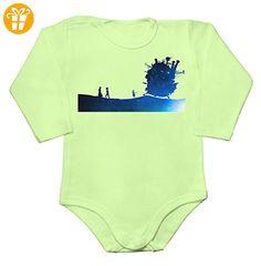 Moving Castle Design Made Of Stars Baby Long Sleeve Romper Bodysuit XX-Large - Baby bodys baby einteiler baby stampler (*Partner-Link)
