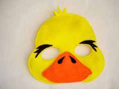 Children's DUCK Felt Mask by magicalattic on Etsy, $12.50