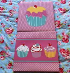 Cupcake canvases
