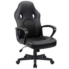 Furmax Office Chair Desk Leather Gaming Chair, High Back Ergonomic Adjustable Racing Chair,Task Swivel Executive Computer Chair Headrest and Lumbar Support (Black) Cool Office Desk, High Back Office Chair, Pc Gaming Chair, Gaming Rooms, Gaming Setup, Farmhouse Dining Chairs, Kitchen Dining, Ergonomic Office Chair, Adjustable Desk