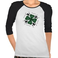 A beautiful dark gothic shamrock with swirls and fleur de lis symbols on a cute baseball style t shirt. #st #patricks #day #st #pattys #day #gothic #st #patricks #day #cute #shamrock #gothic #shamrock #goth #gothic #gothic #victorian #victorian #victorian #shamrock #4 #leaf #clover #cute #st #patricks #day #cute #gothic #st #patricks #day #green #irish #goth
