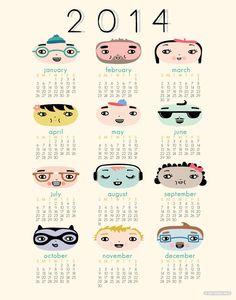 2014 wall calendar by hillarybird.
