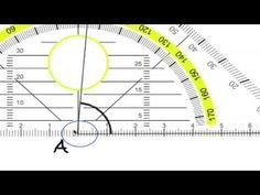 Kulman mittaaminen astelevyllä eli geokolmiolla.