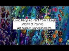Acrylic Pouring. Mixing Ratios Explained. Dirty Pour Example. Finished Project - YouTube