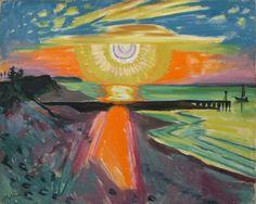 Sunset at the Lake,  Max Pechstein