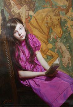 ✉ Biblio Beauties ✉ paintings of women reading letters and books - Hiroshi Furuyoshi