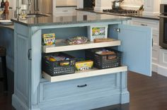 Do your kids use the table for homework or art projects? Embrace whatever the other uses are and give those things organizational space. Set aside a cabinet for homework supplies and make sure there's comfortable seating.