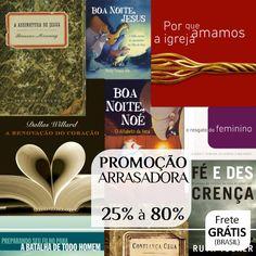 Livros de vários autores da Editora Mundo Cristão na Promoção Arrasadora 25% à 80%