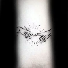 Small Simple Inner Forearm Mens The Creation Of Adam Tattoo Designs