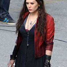 Avengers Age of Ultron 2 Scarlet Witch Leder Jacke