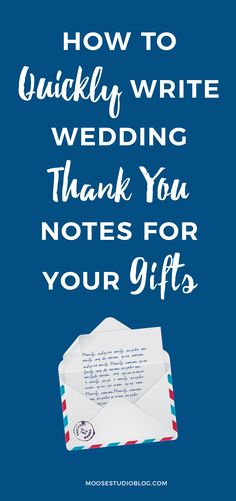 How To Quickly Conquer The Wording For Wedding Thank You Notes