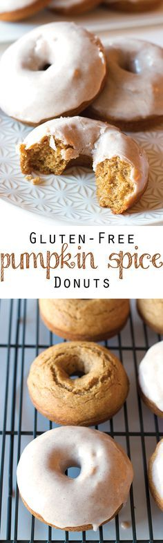 Baked, not fried, and coated in a delicious Cinnamon Maple Cream Cheese Glaze, these Gluten-Free Pumpkin Spice Donuts are the ultimate fall breakfast (or dessert!)