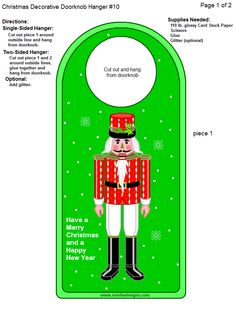 Doorknob Hangers, Christmas Printables, Christmas Ideas, Paper Banners, Card Stock, Boxes, Paper Crafts, Letters, Templates