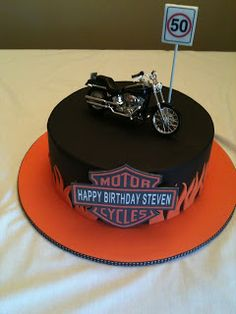 Carley's Cake Couture: Harley Davidson birthday cake