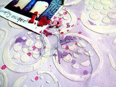 """Balzer Designs """"Pomegranate"""" stencil"""