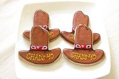 Cowboy Hat Birthday Cookies  (1 dozen) on Etsy, $42.00