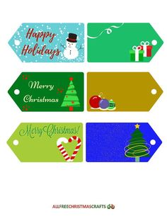 Frosty Fun Printable Gift Tags   These free printable Christmas tags are too cute not to get right now!