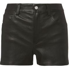 Stretch Leather Shorts ($520) ❤ liked on Polyvore featuring shorts, black, helmut lang, summer shorts, stretch shorts, stretchy shorts and helmut lang shorts