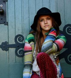 Hooded Color Spectrum Cardigan style pic on Free People