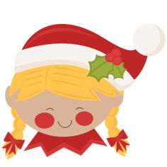 Christmas Elf Girl SVG scrapbook cut file cute clipart files for silhouette cricut pazzles free svgs free svg cuts cute cut files