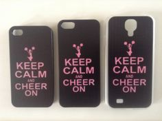 Cheerleader Phone Cases iPhone 4/4S, 5/5S/5C & Samsung Galaxy S4 (5C not shown in pic) #cheer #cheerleading #iphone #samsung #cellphone #keepcalm