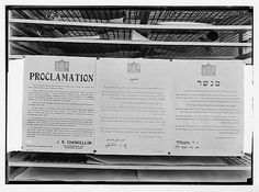 The 1929 riots. August 23 to 31. Proclamation by Sir John Chancellor. Thrown from R.A.F. planes. A photographic copy.