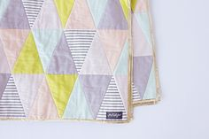 Triangle Quilt Pattern- Cute and a good idea
